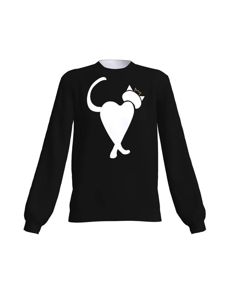 QUEEN HEARTCAT SWEATSHIRT BLACK