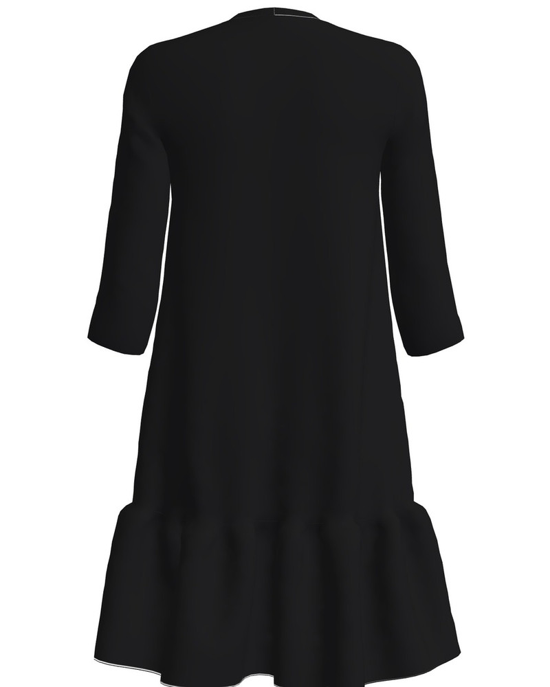 MINE METSA FRILL DRESS BLACK