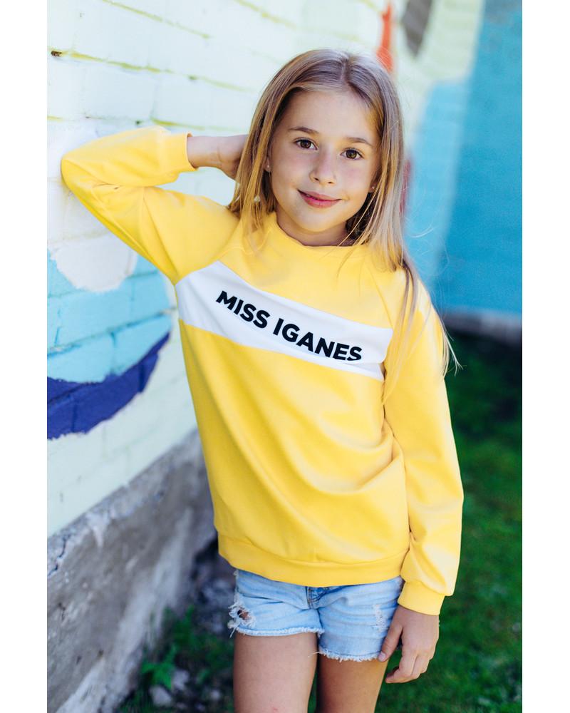 MISS IGANES KIDS SWEATSHIRT YELLOW