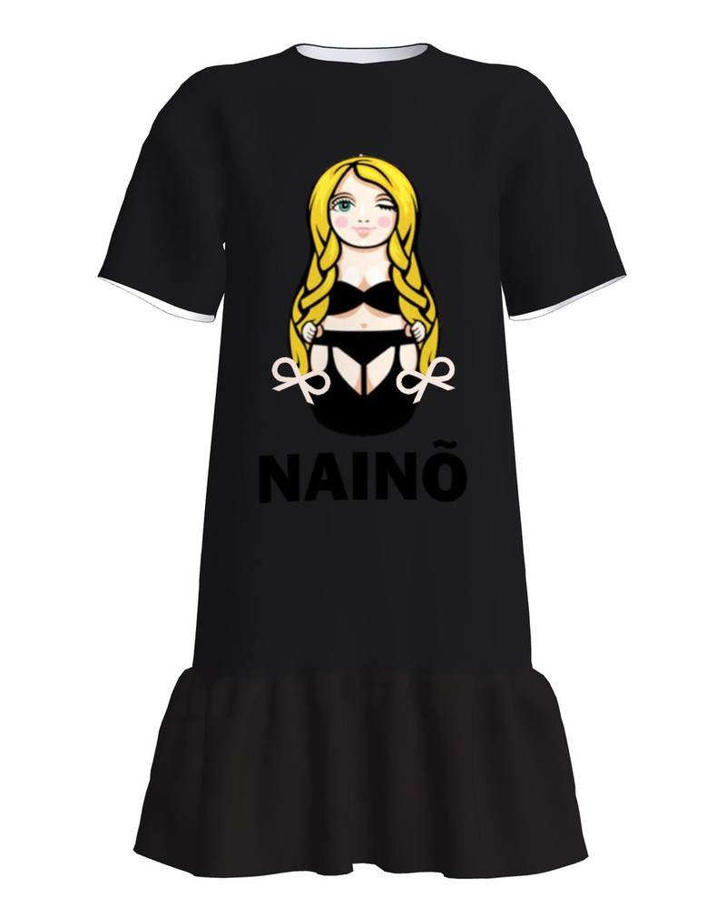 T-Shirt Dress With Frill JULGE NAINÕ