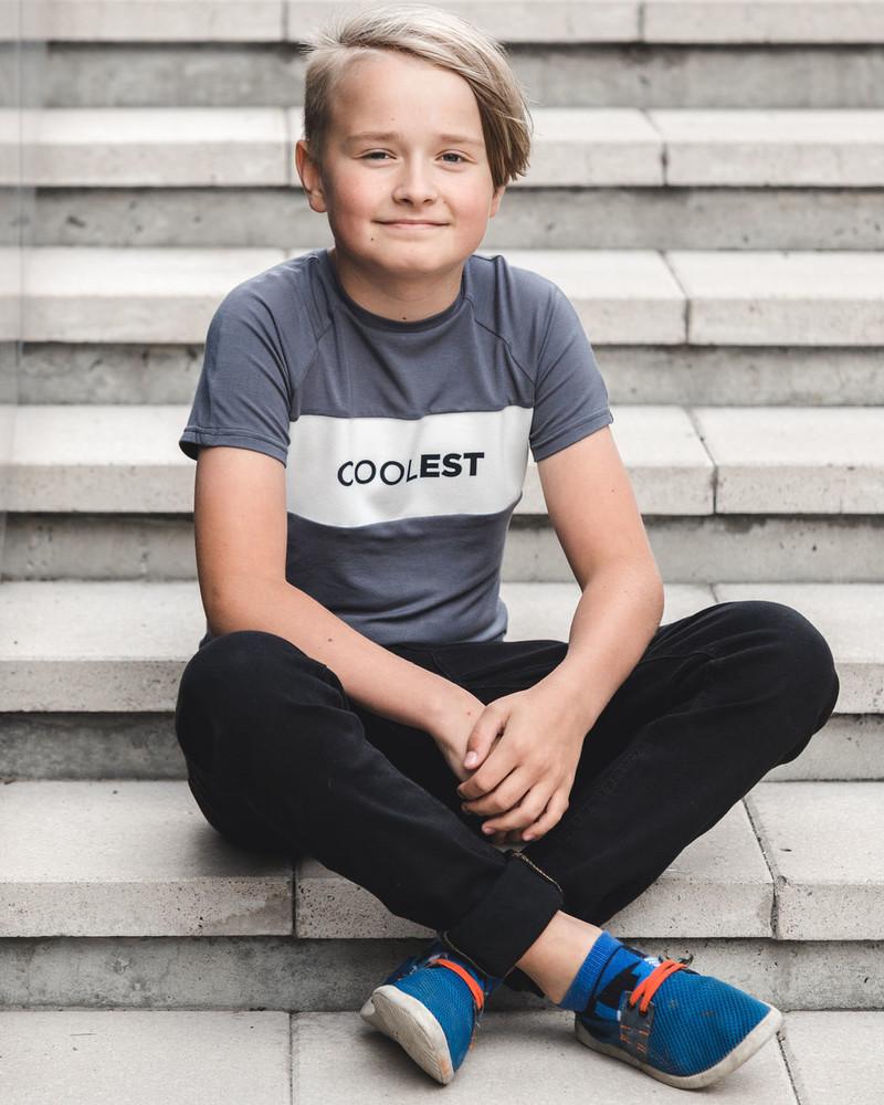 COOLEST KIDS T-SHIRT GREY
