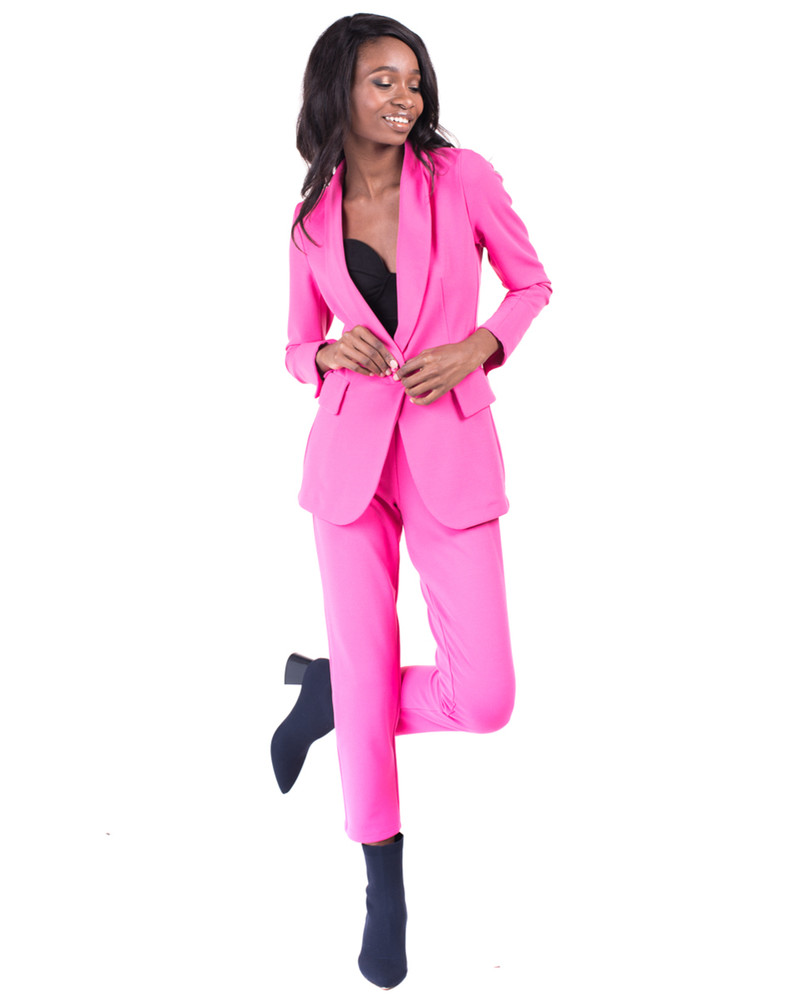 SKINNY TROUSERS NEON PINK