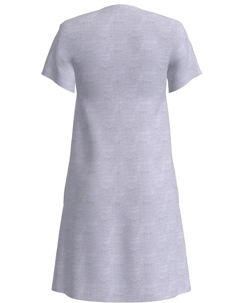EMME PRINT DRESS LIGHT GREY
