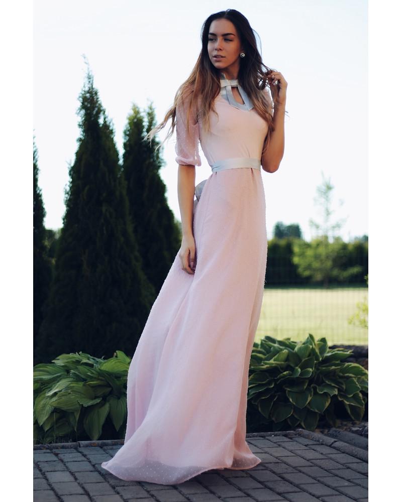 DOLLABLE MAXI CHIFFON DRESS