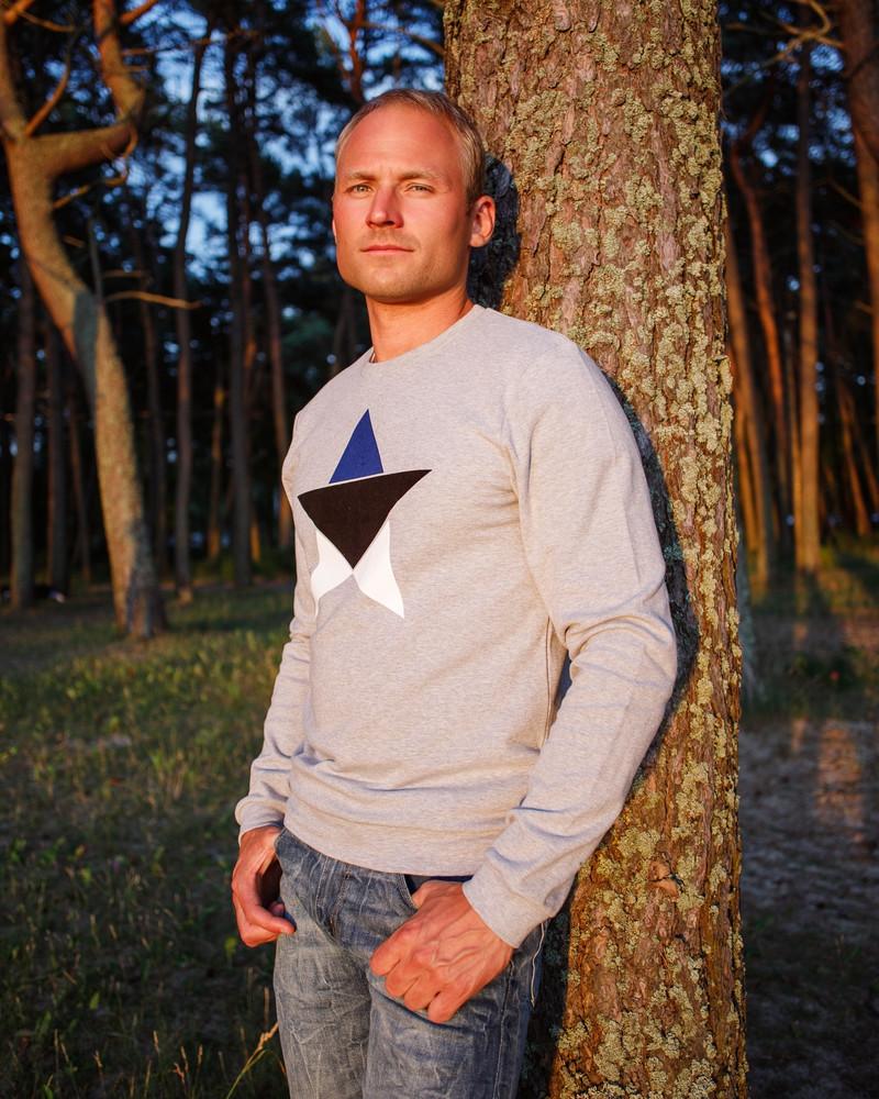 ESTONIAN STAR SWEATSHIRT LIGHT GREY