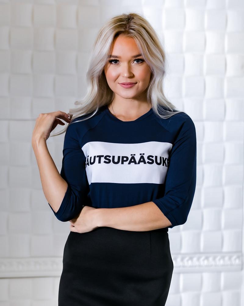 NAVY BLUE SÄUTSUPÄÄSUKE QUARTER BLOUSE