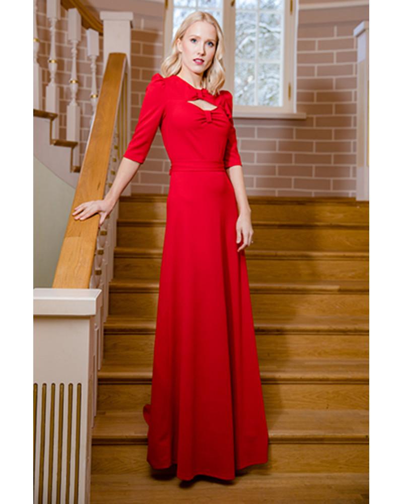 MIS 50 MAXI DRESS RED