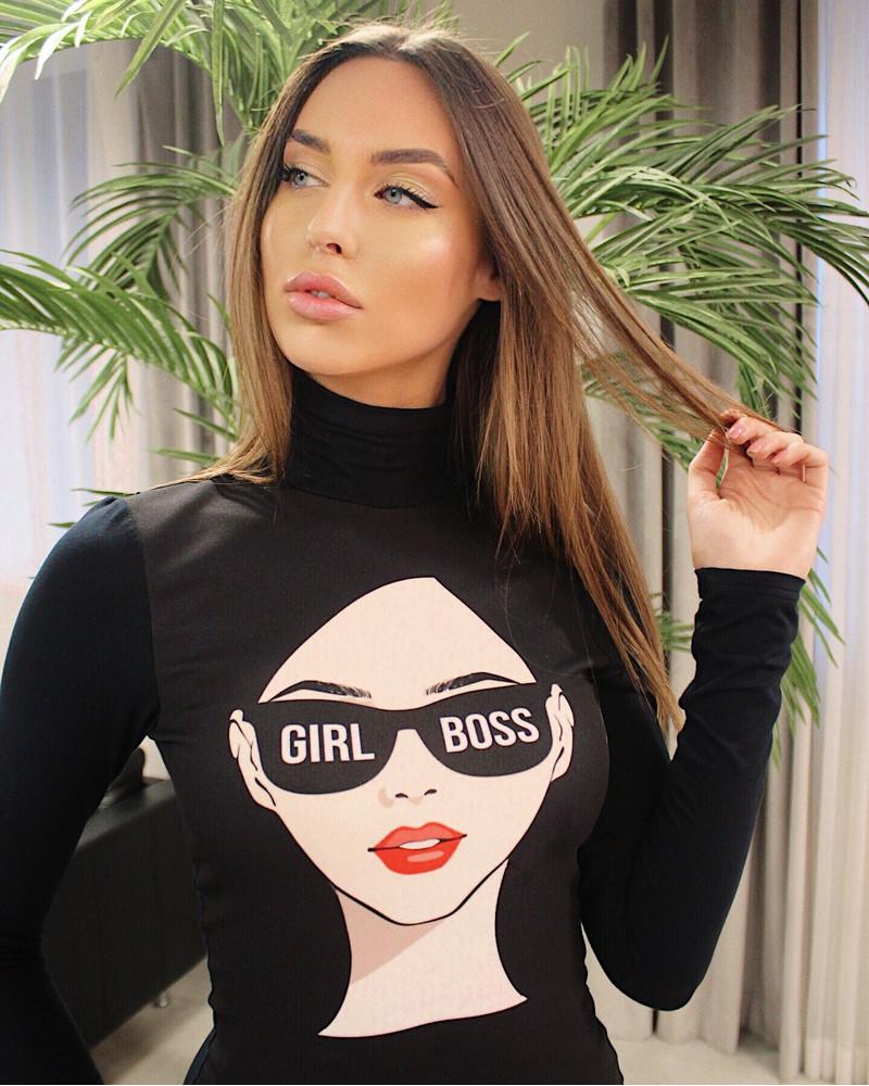 GIRL BOSS BLACK PULLOVER