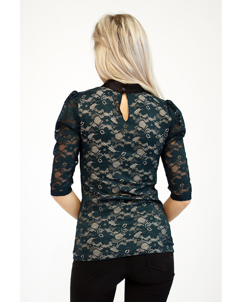 GREEN LACE DOLLABLE SHIRT