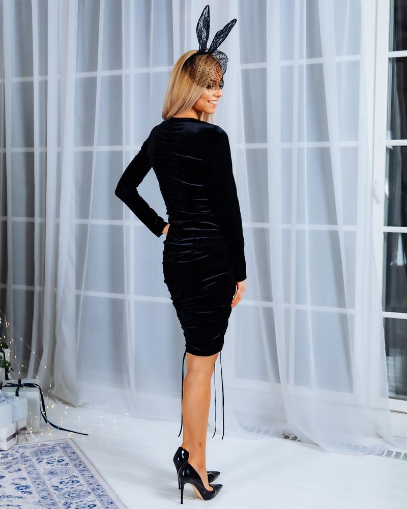 TUNNEL VELVET DRESS BLACK