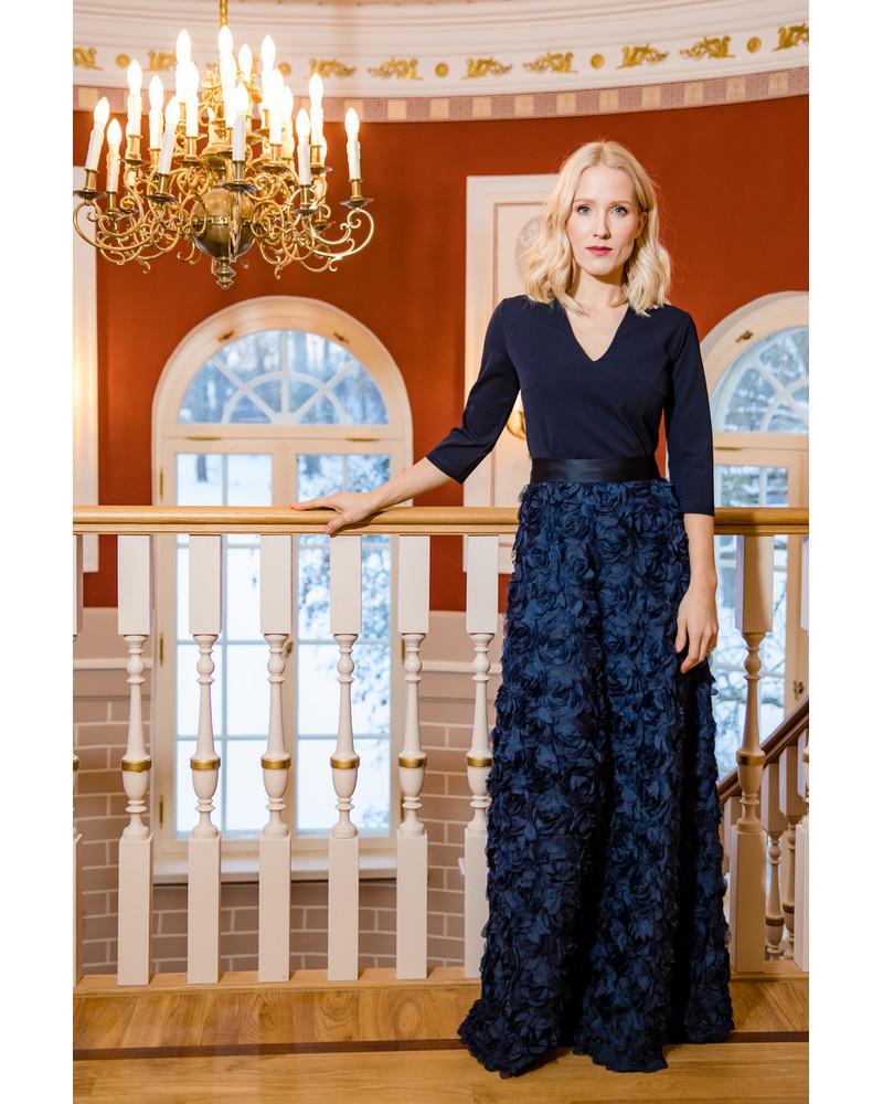 FLOWER POWER MAXI DRESS BLUE