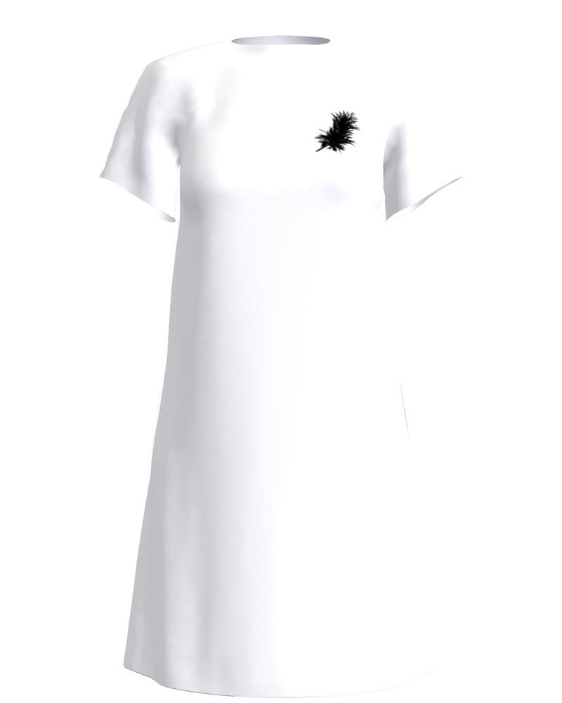 ANGEL PRINT DRESS WHITE
