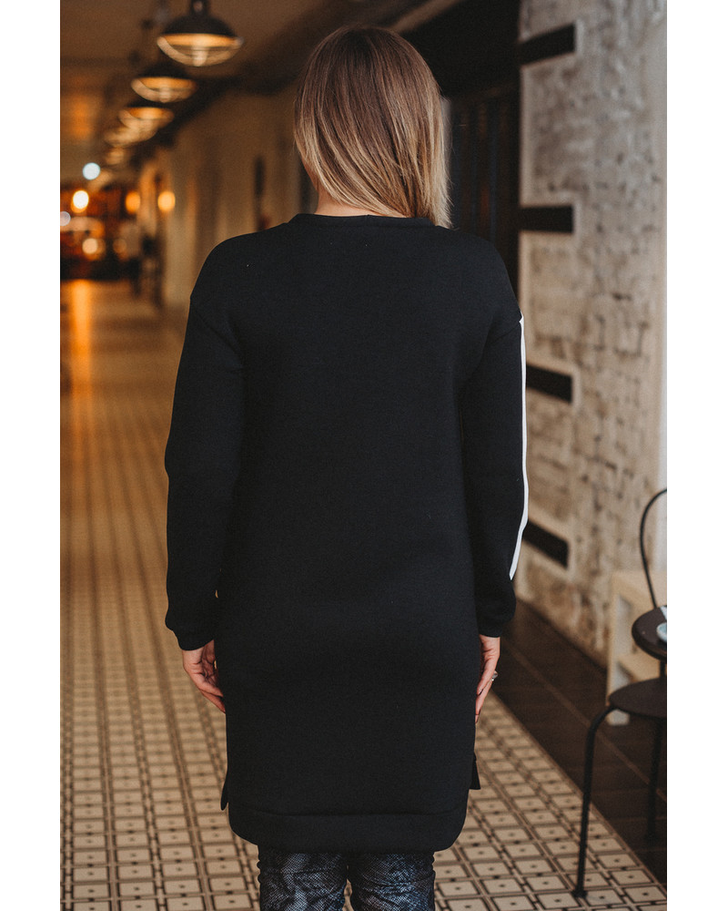 CUSTOM SIDE BLACK DRESS