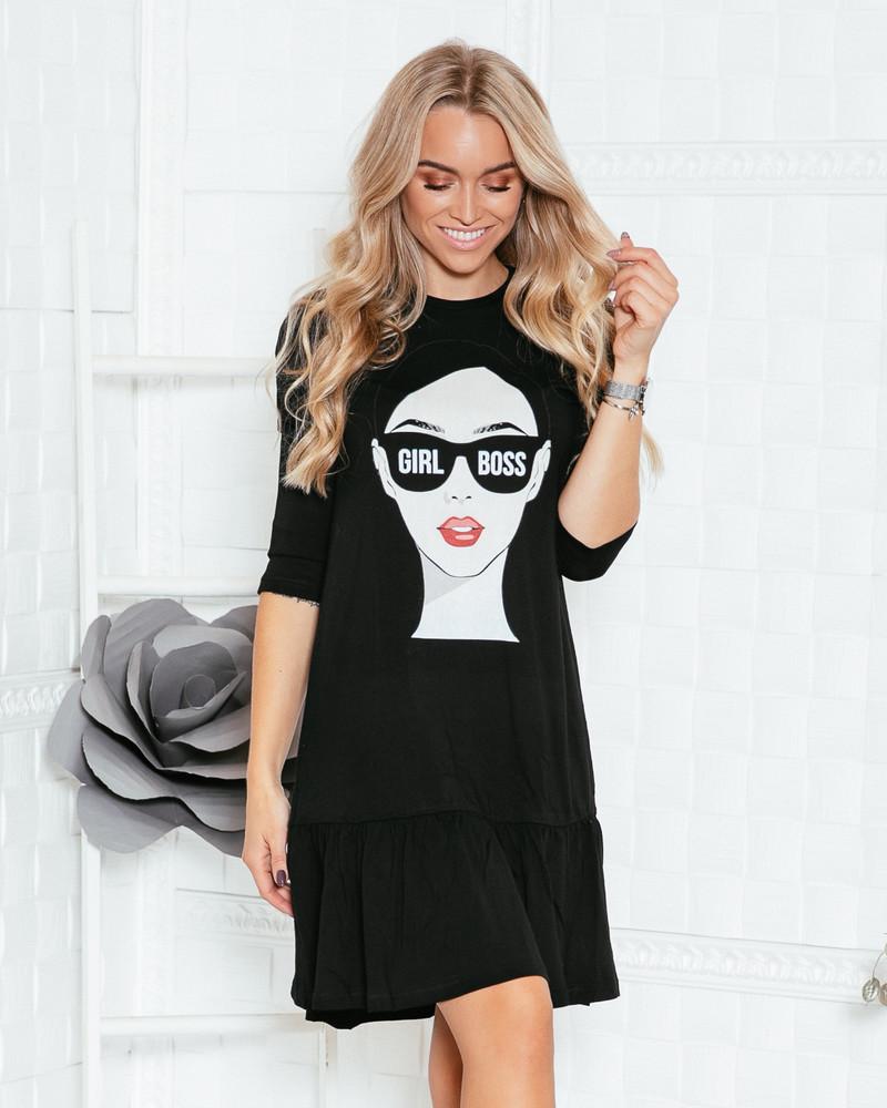 GIRL BOSS T-SHIRT FRILL DRESS
