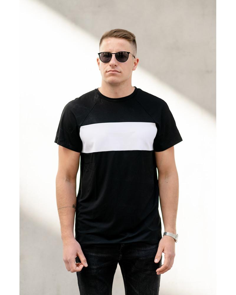 CUSTOM SLOGAN BLACK T SHIRT