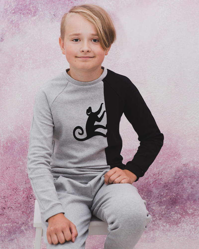 MONKEY TWAIN KIDS SWEATSHIRT GREY