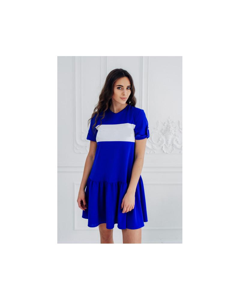CUSTOM BLUE PEARL FRILL DRESS