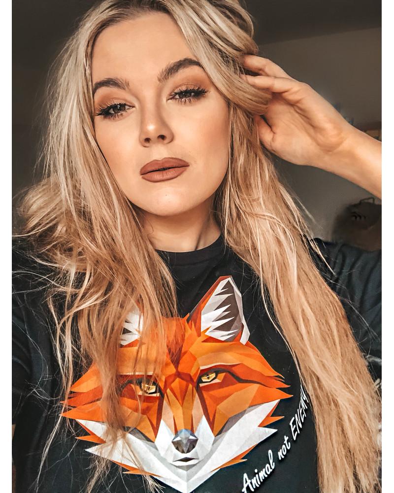 ANIMAL NOT ENEMY FOX PRINT T-SHIRT