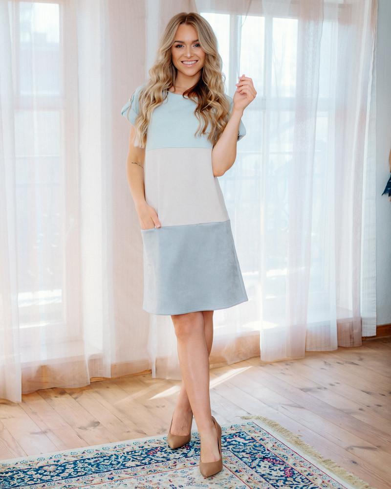 TRIO POCKET DRESS LIGHT BLUE