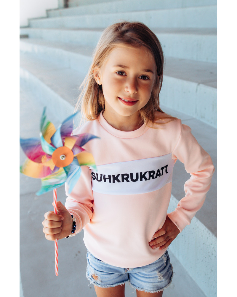 SUHKRUKRATT KIDS SWEATSHIRT PEACHY