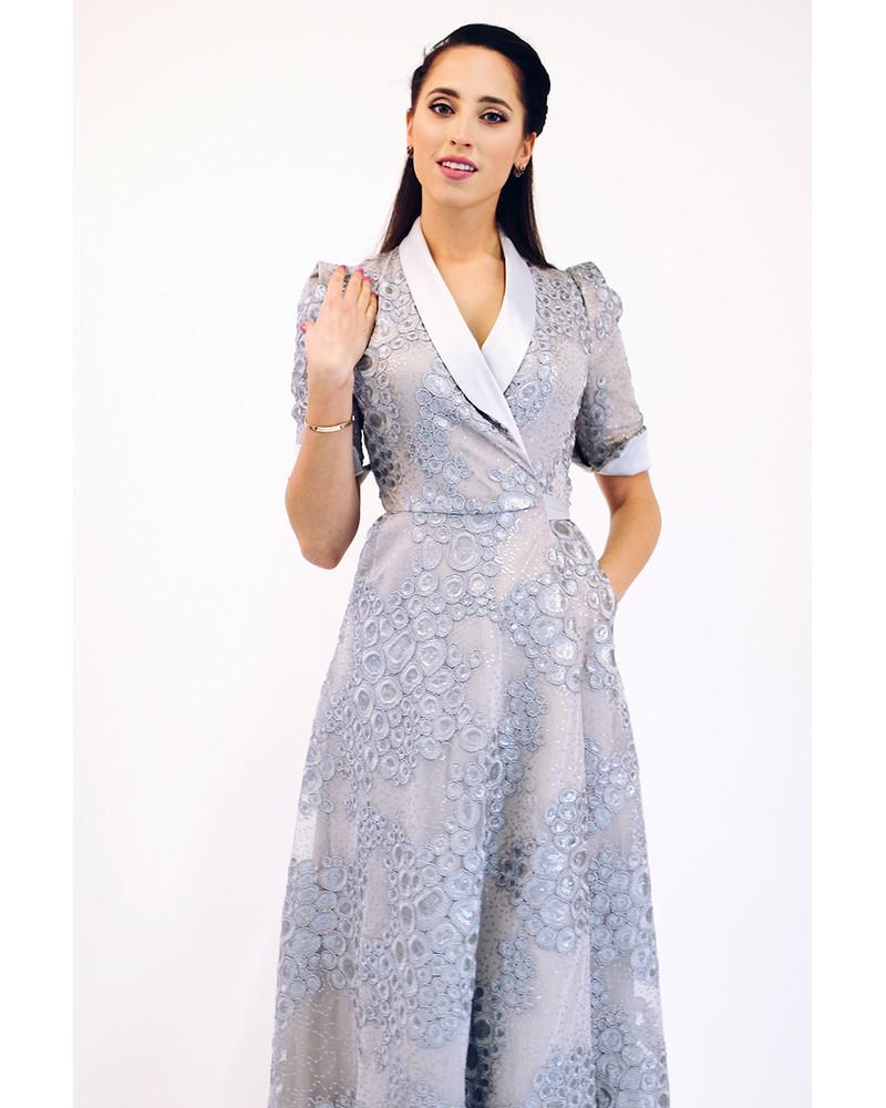 MOON SILVER MAXI DRESS