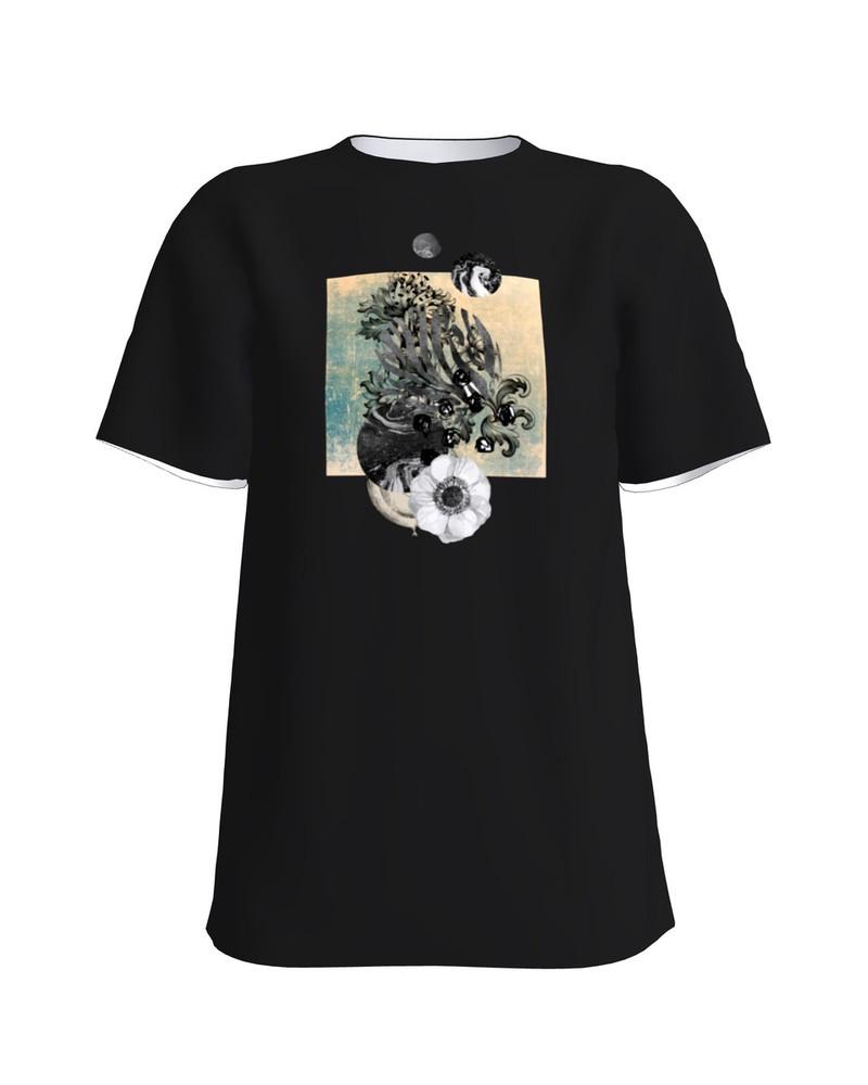 FLOWER T-Shirt H UNISEX black
