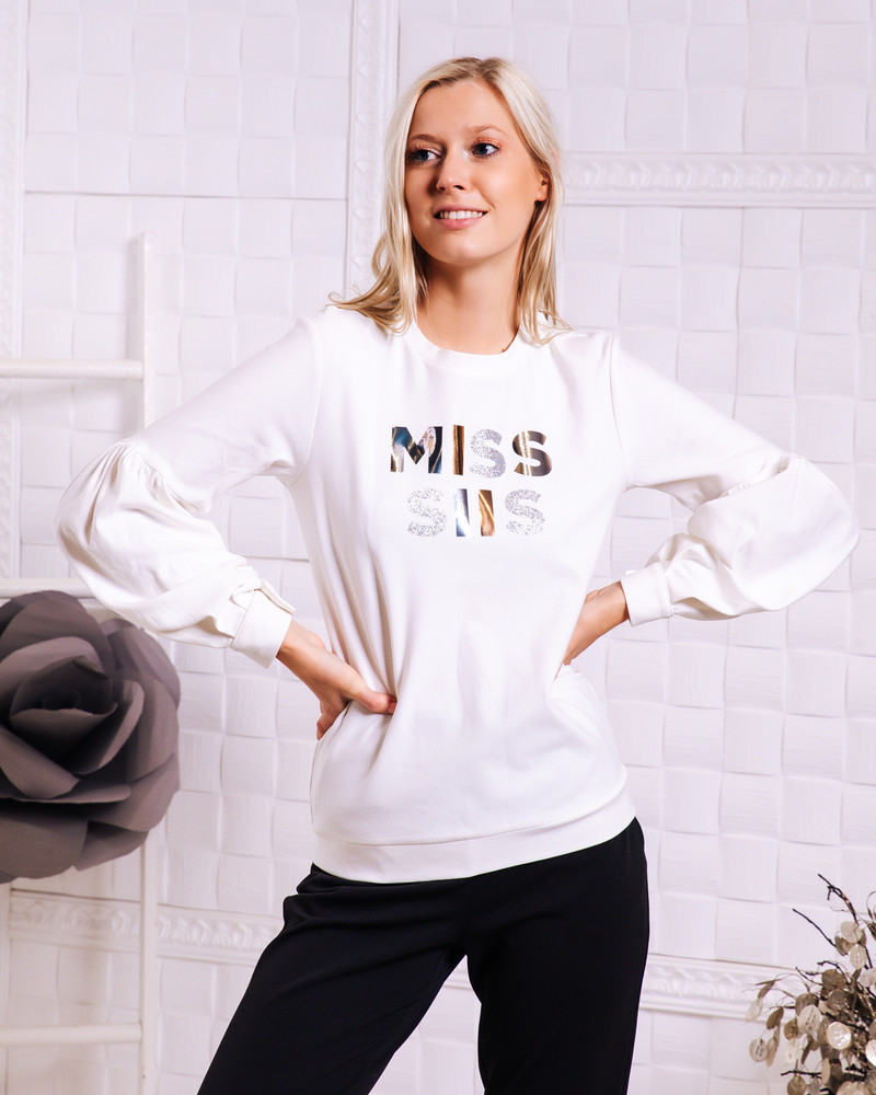 MISS SIIS ALICE SWEATSHIRT WHITE