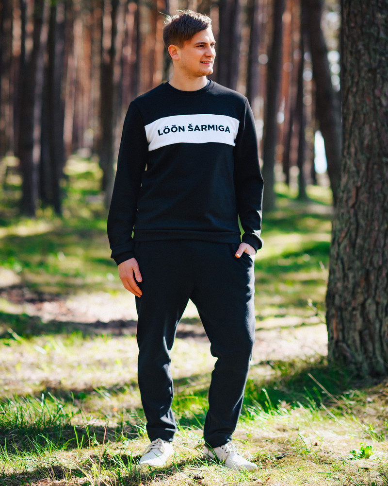 LÖÖN ŠARMIGA SWEATSHIRT BLACK