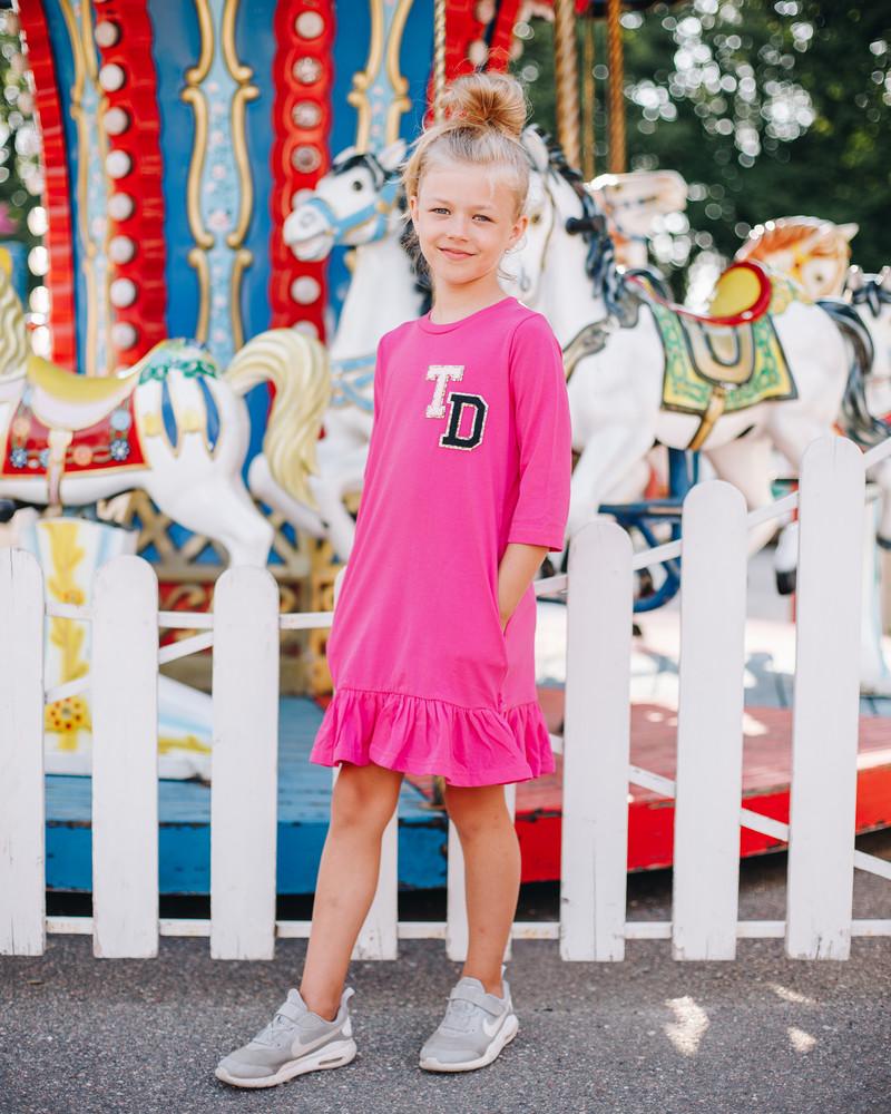 TD KIDS DRESS FUCHSIA