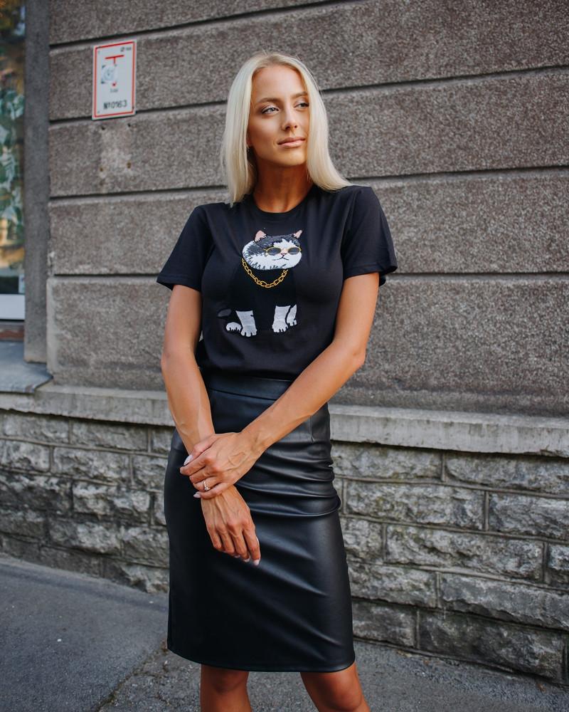 COOL CAT SLIM T-SHIRT BLACK