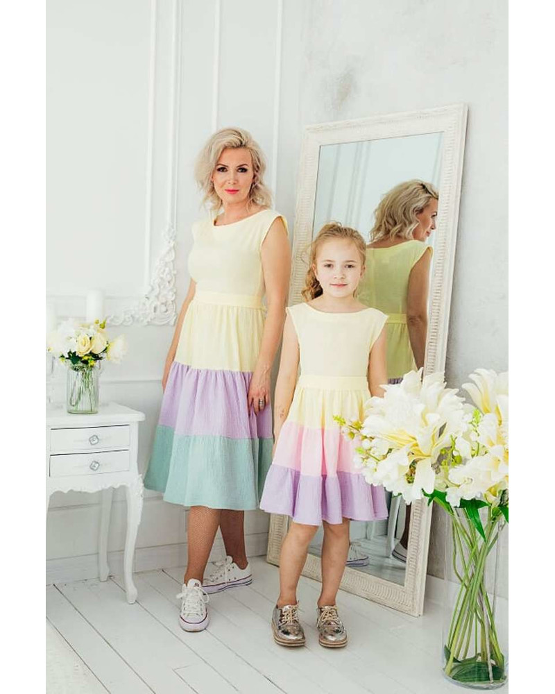 RAINBOW FRILL DRESS KIDS