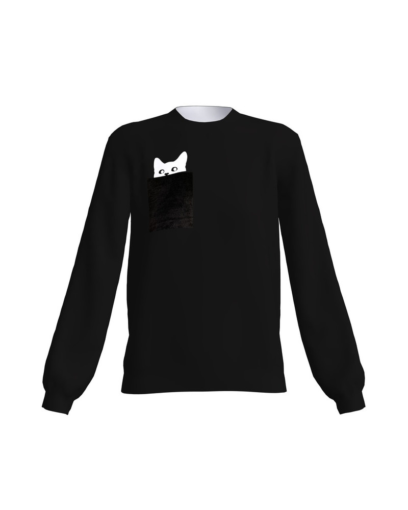 KITTY SWEATSHIRT BLACK