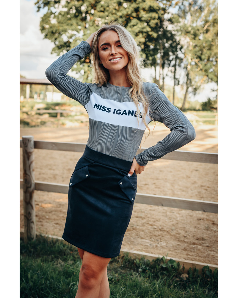 GREY MISS IGANES WAVE SWEATER