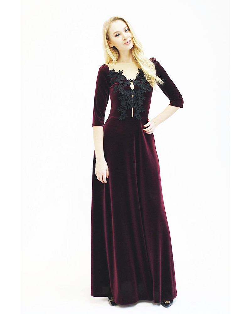 BEAUTY MAXI PURPLE DRESS