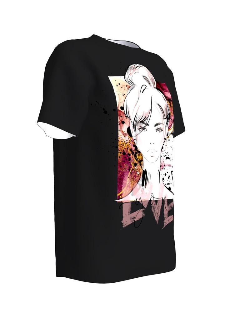 LOVE YOU black womens t-shirt