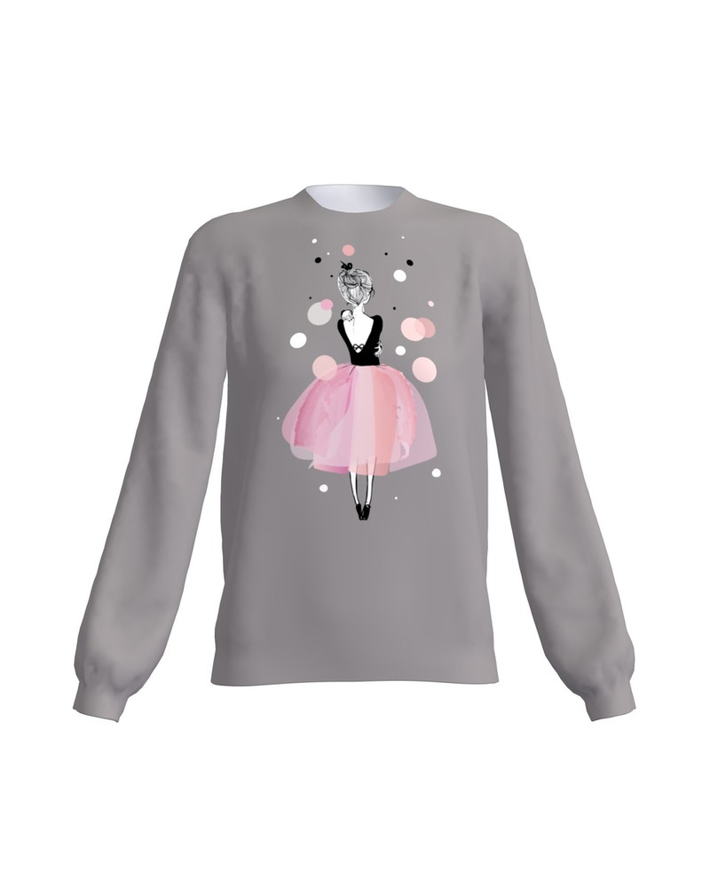 PINK GIRL SWEATER DARK GREY