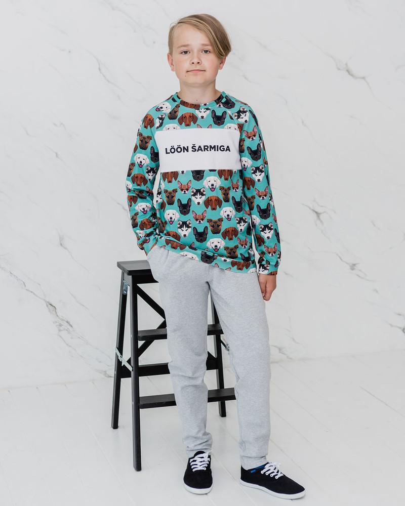 GREY KIDS SWEATPANTS