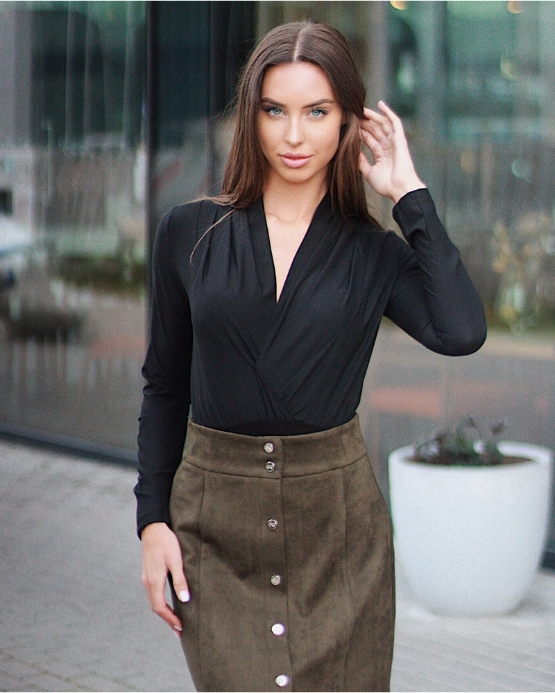 CHIC BODY WITH LONG SLEEVES BLACK
