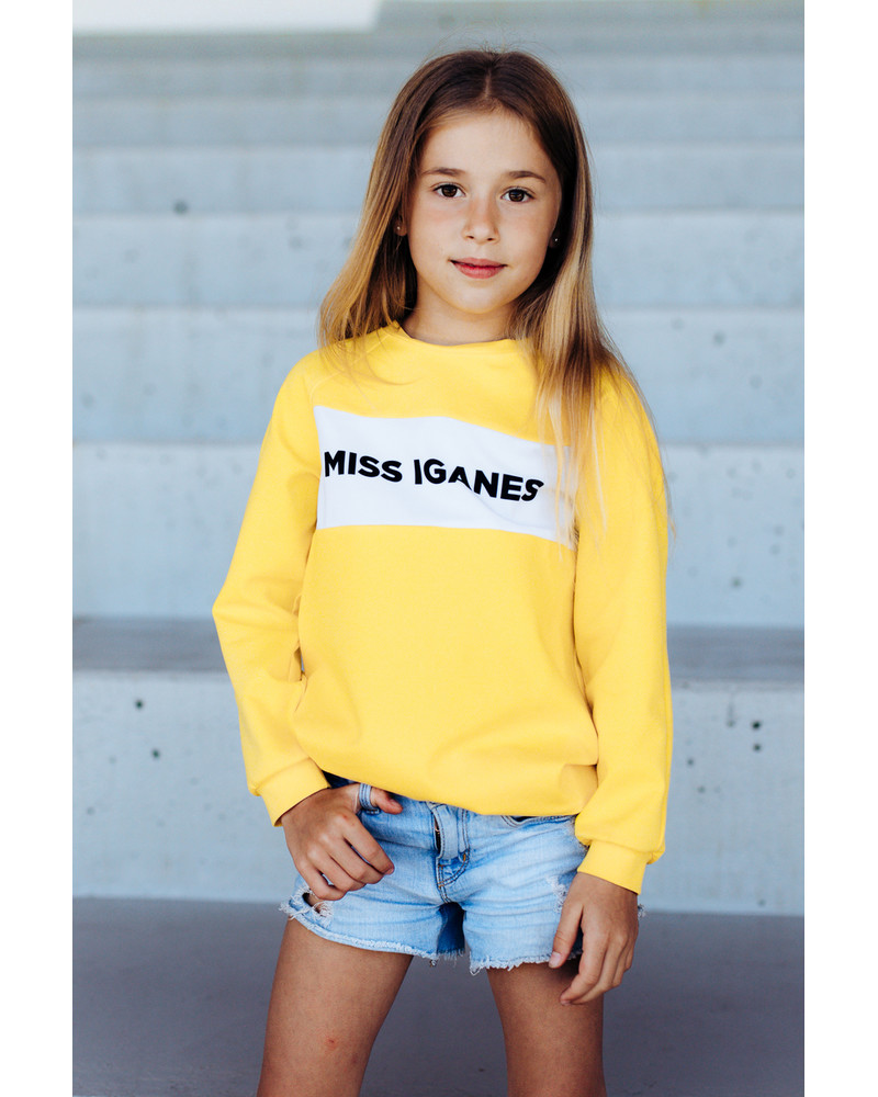 MISS IGANES YELLOW KIDS SWEATER