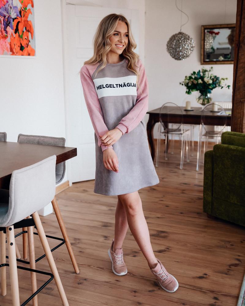 HELGELTNÄGIJA DRESS SUEDE PINK & PLUM PASTEL