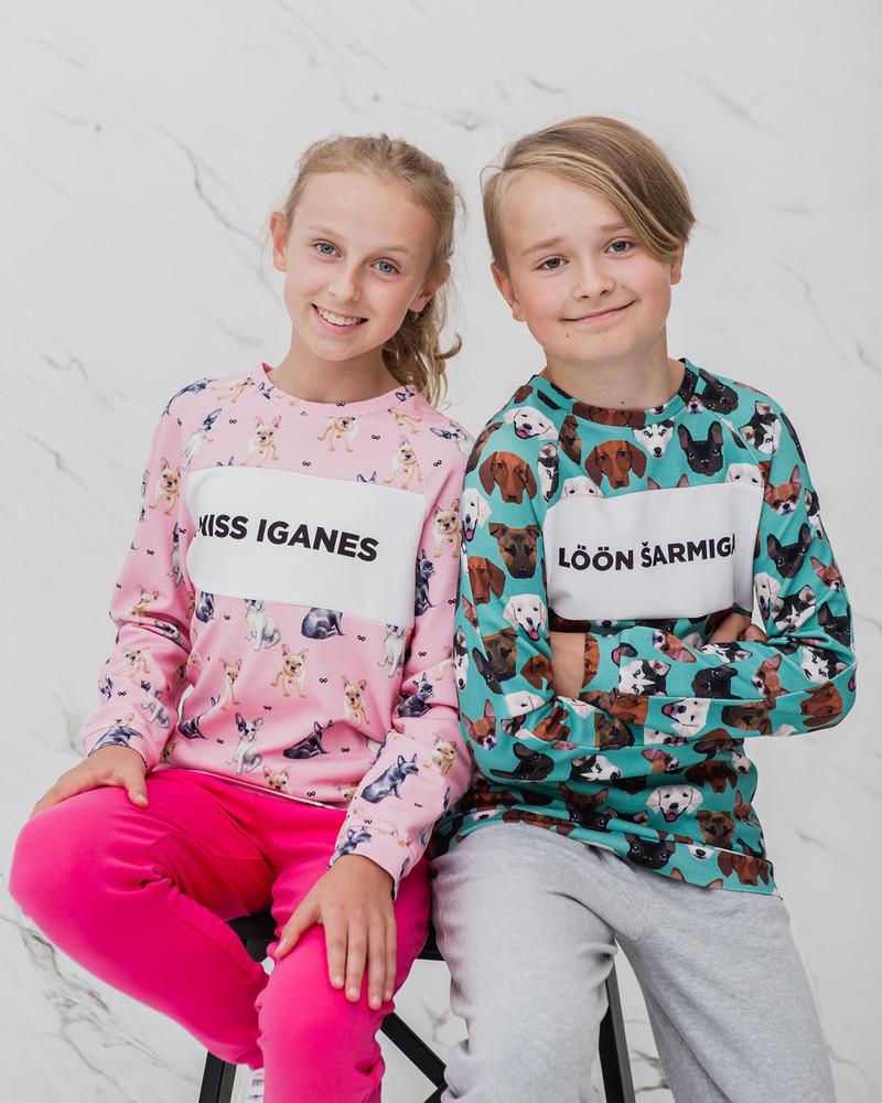 MISS IGANES KIDS BULLDOGS SWEATSHIRT PINK