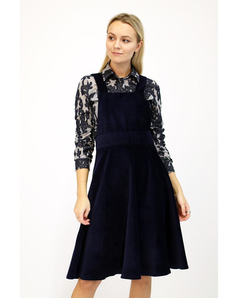 BLUE VELVET MODISH DRESS SET