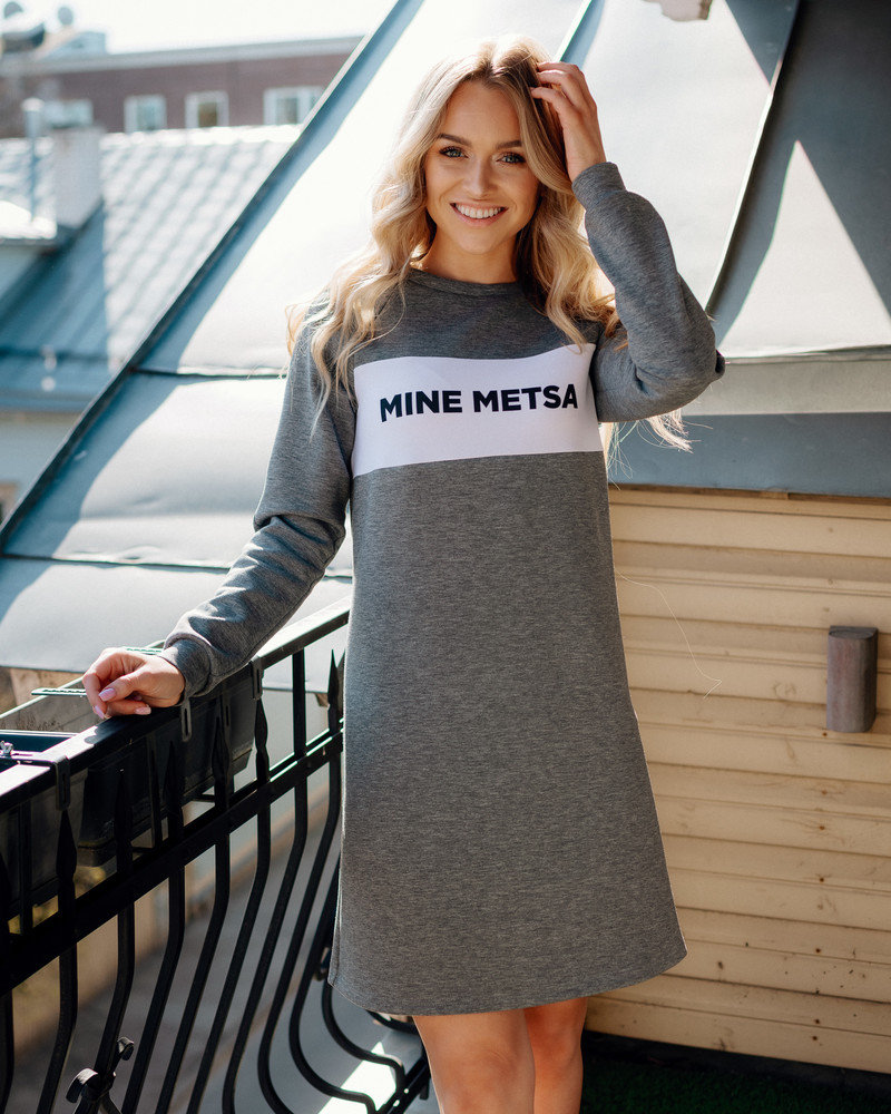MINE METSA SWEATER DRESS GREY