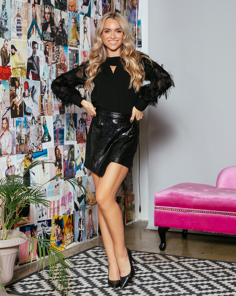 WRAP BLACK LEATHER TROUSERS SKIRT