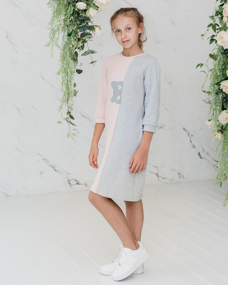 PEEK-A-BOO KIDS SWEATER DRESS