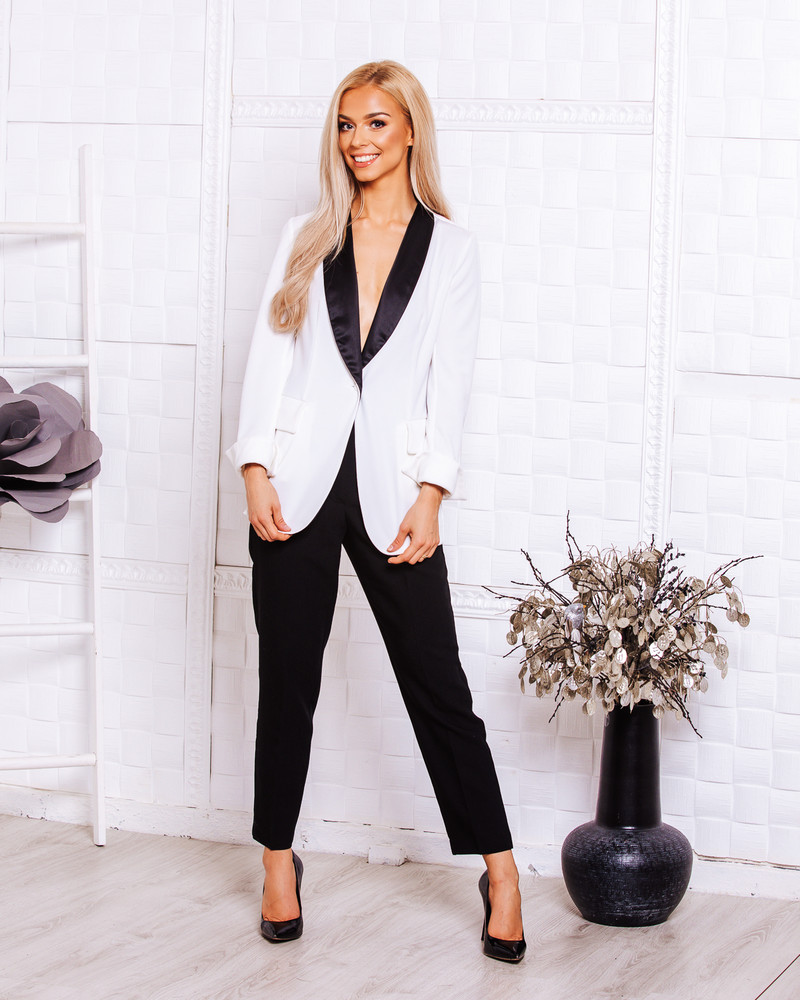 ELEGANT JACKET WHITE BLACK