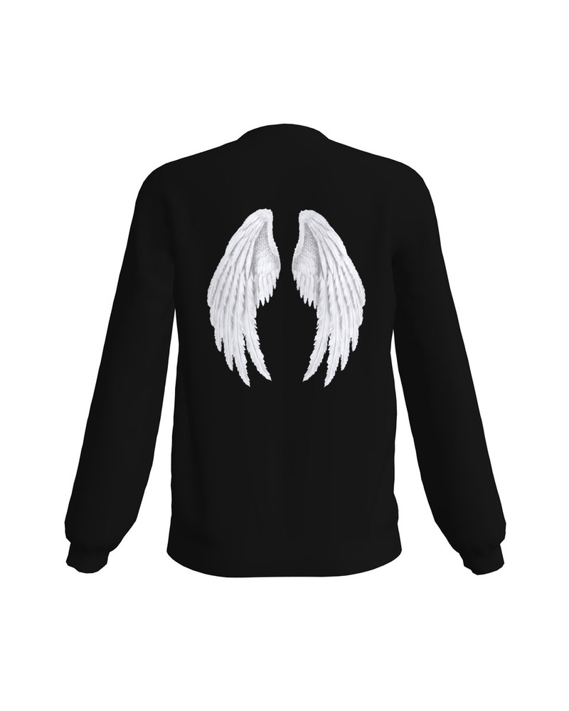NOT YOUR FUCKING ANGEL PRINT SWEATSHIRT BLACK
