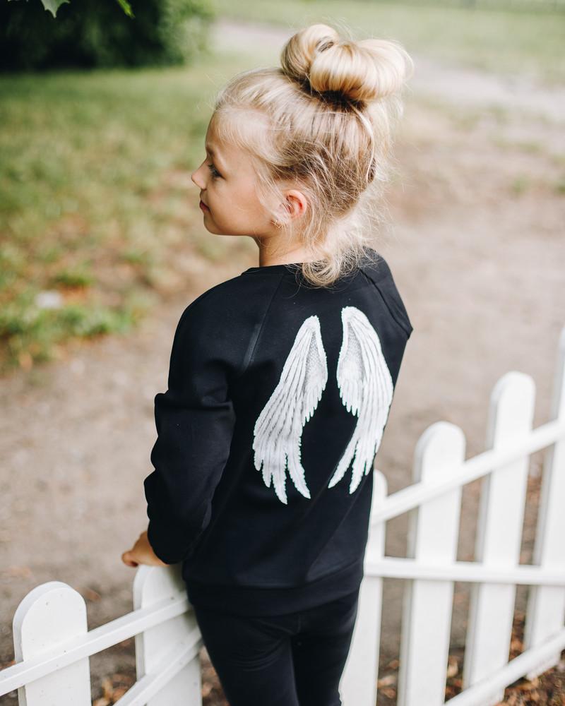 ANGEL KIDS SWEASHIRT BLACK