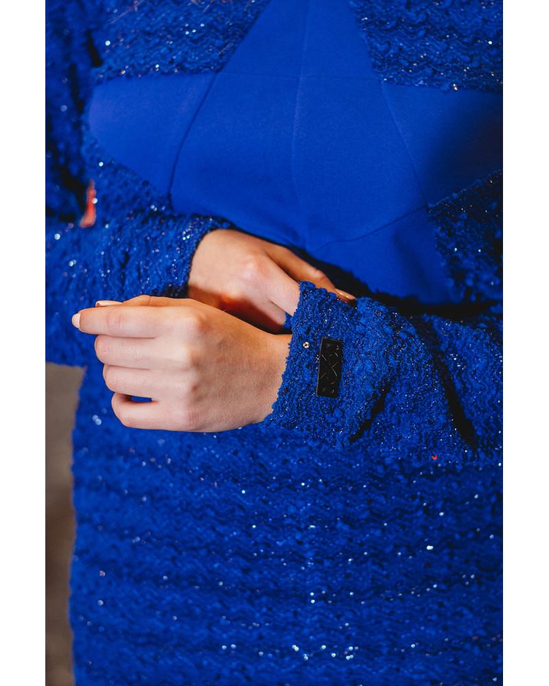 BLUE STAR KNIT SWEATER+SKIRT SET