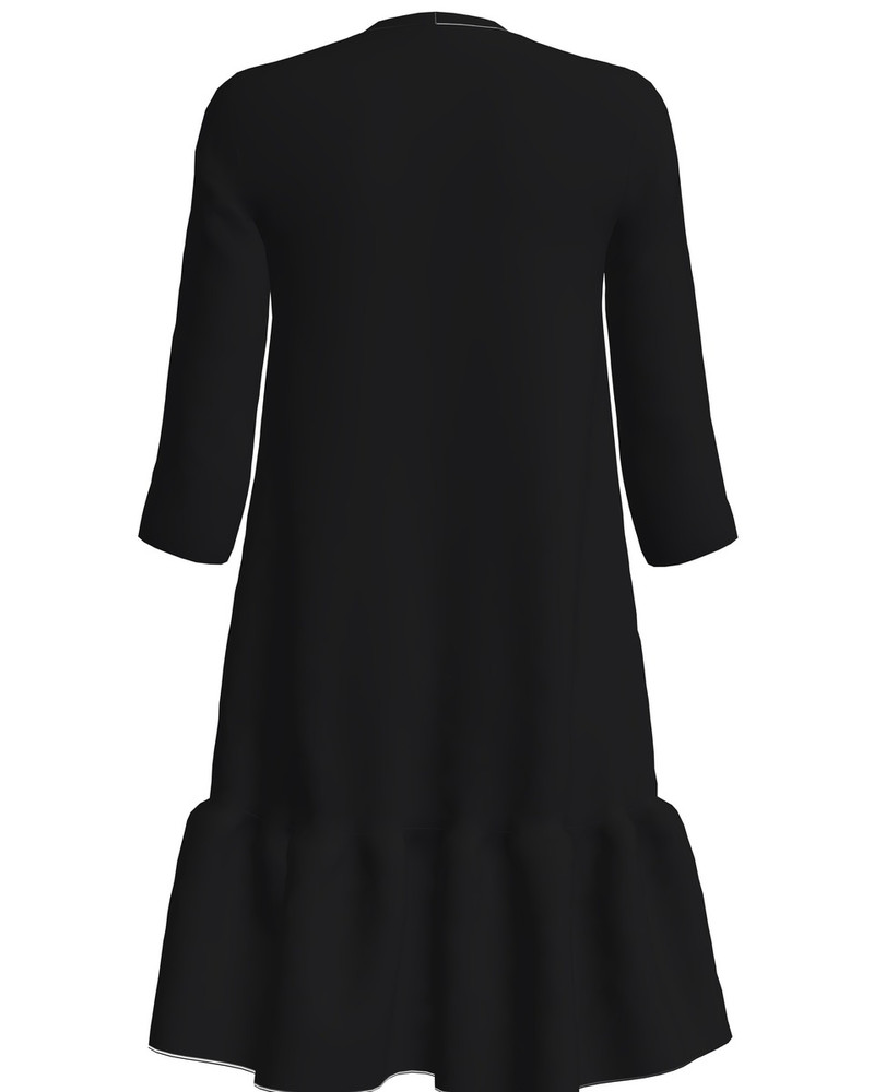ESTONIAN STAR FRILL DRESS BLACK